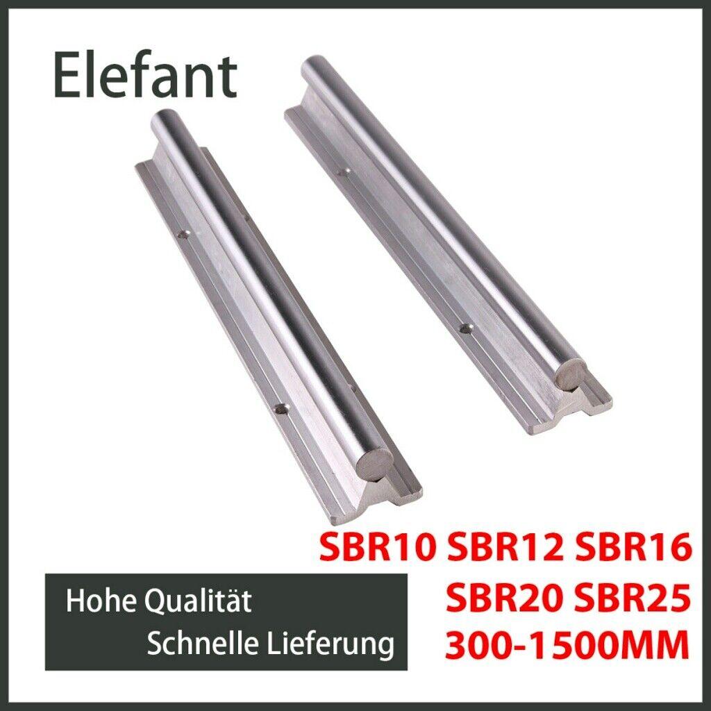 4X SBR16UU Block 2X SBR16 400mm Linear Linearführung Welle