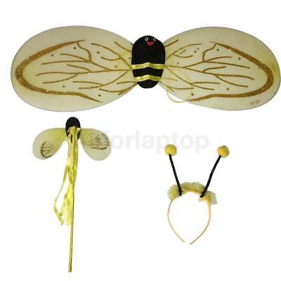 Bienen Biene Set Haarreif Fühler Flügel Biene Kostüm Zubehör Fasching - Biene Flügel Fühler Kostüm