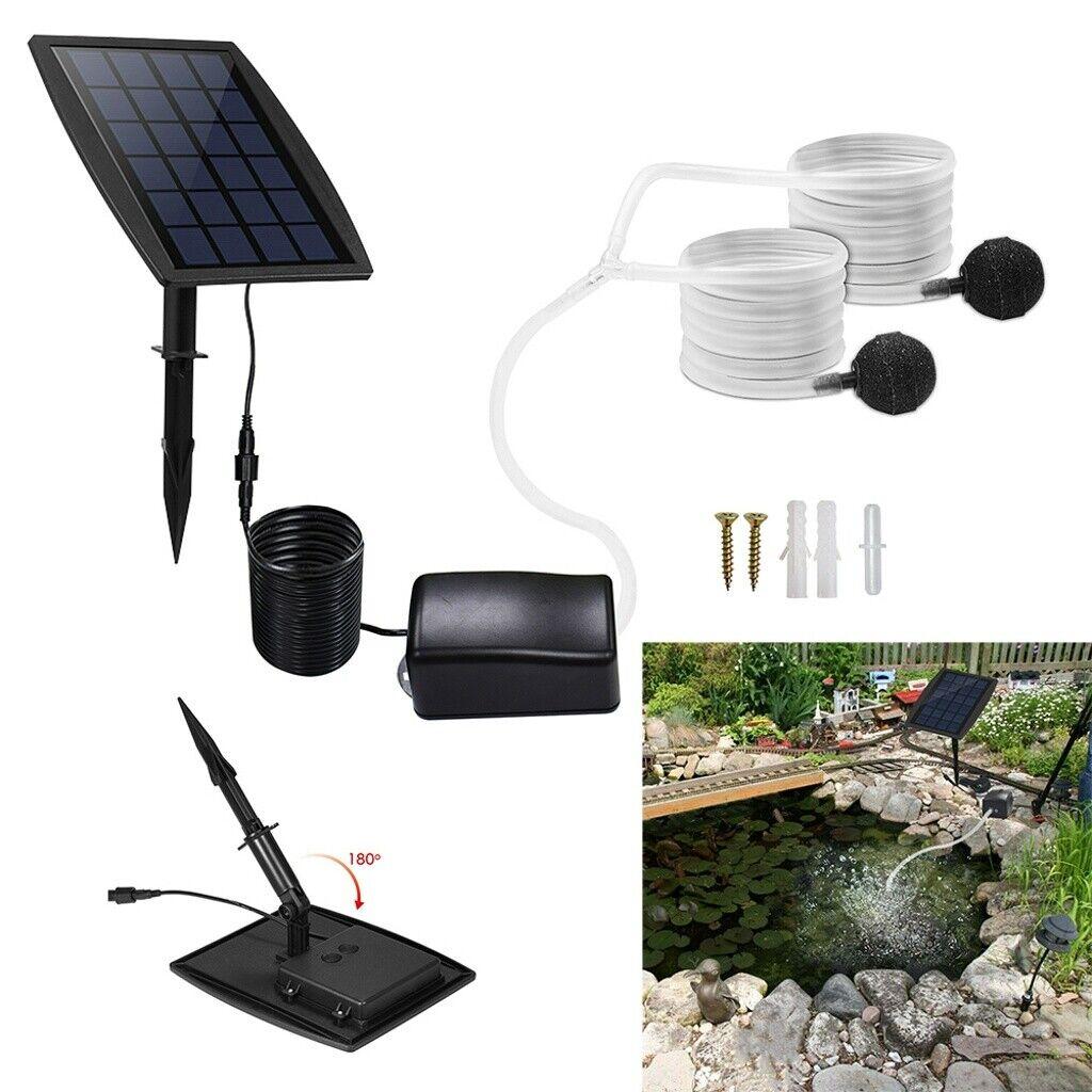 solar powered oxygenator air pump water oxygen
