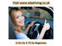 Manual & automatic driving lessons *****5 hrs for £ 75 ******