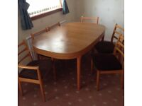 Dining Room Table & Chairs .