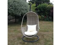 John Lewis Dante Pod Hanging Chair. Barely Used and in New Condition.