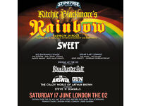 Ritchie Blackmore Stone Free, O2 17th June x 2 tickets. Fantastic seats, right at the front.