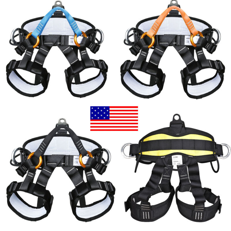 Pro Tree Climbing Carving Rock Equip Safety Harness Seat Belt Gear Rappel Rescue