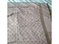 ***NEW*** Rose pink & gold LV monogram print designer scarf