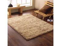 Lakeland Kensington Wool Shaggy Rug - Beige 160x230