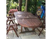 Teak Garden Table & Four Chairs