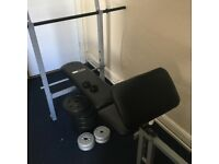 Weights and multi purpose weight bench