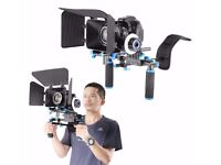 DSLR Rig Set Movie Kit Film Making System, include Shoulder Mount Follow Focus and Matte Box