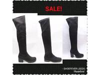 black knee high boots sale