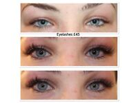 OFFER INDIVIDUAL EYELASHES, EYELASH EXTENSIONS, RUSSIAN 3D, VOLUME LASHES, MICROBLADING