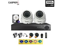 1080p 4CH DVR kit with 2 x VARI-FOCAL CCTV HD Dome Cameras 30m IR 2.8-12mm LENS