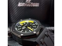 Complete Package black strap black face ceramic bezel AP automatic sweeping