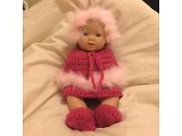 Unique winter outfit and doll handmade new