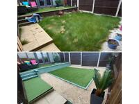 Gardeners landscapers clearance artificial grass turf paving patio slab Dartford Gravesend's decking
