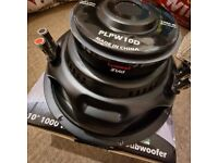 """3 x 10"""" Inch PLPW10D 500W RMS SUBWOOFERS [BRAND NEW AND BOXED] JBL BASSFACE"""