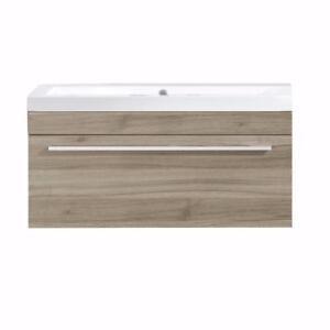 Vanité 1 tiroir avec lavabo en marbre blanc, Luxo Marbre