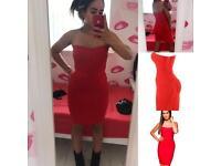 House of CB- Leyla red bandage dress (M)