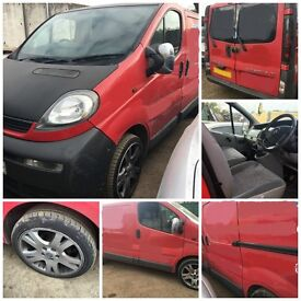 vauxhall vivaro van red 1.9 DI 2002 Bonnet all parts available