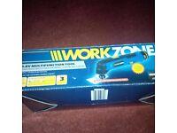 Work zone 10.8 volt multi function tool & corded Sander