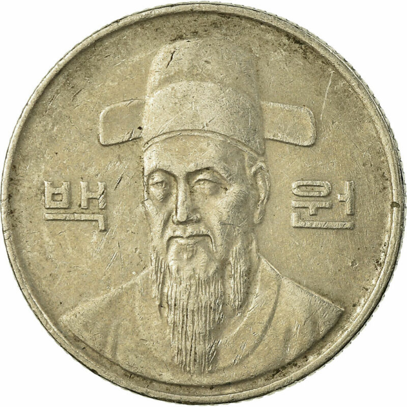 [#676982] Coin, KOREA-SOUTH, 100 Won, 1989, VF(30-35), Copper-nickel, KM:35.2