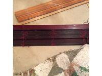 Dark mahogany coloured Venetian blind