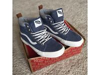 *BRAND NEW* Vans Trainers Sk8-Hi MTE Denim Suede/ Blue *SIZE 5 *