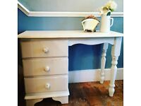 Lovely solid pine shabby chic dressing table