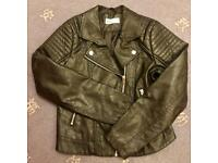 H&M Leather look jacket Age 11-12