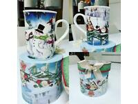 Classic Snowman Christmas Mug