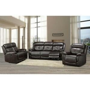 Phoenix Brown 3-pc. Power Recliner Set, with USB port for charging your phone