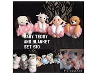 Teddy & Blanket Set