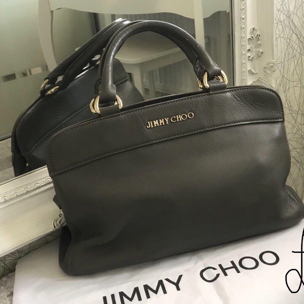 Stunning Soft Grey Real Leather J Choo Handbag Only Used Once