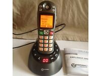 Geemarc Amplidect 285 cordless amplified landline phone with answer machine , used