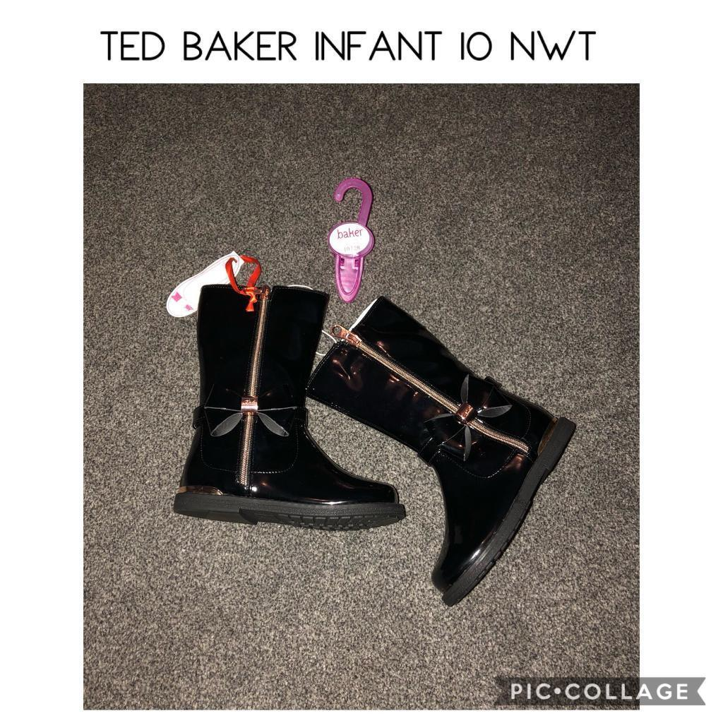 7dc426c141 Ted baker girls black patent boots NWT infant 10 | in Paisley ...