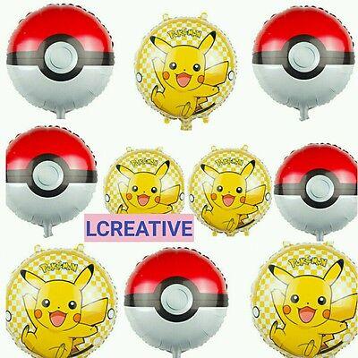 Pokemon Pikachu Birthday Party Supplies  Foil 10 ct) Bouquet - Pikachu Birthday Supplies