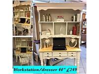Study desk work station dresser