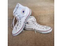 Like New | Mens Size 9 | White High Top Converse AllStars Plimsolls | Perfect Condition | RRP £55