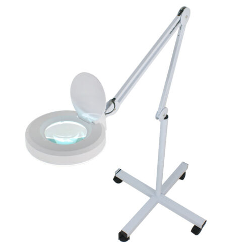 Wheels Rolling Adjustable MAGNIFYING LAMP Standing Mag Light Salon Facial Jewelry & Watches