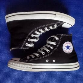 CONVERSE All Star Hi Black Canvas size 8 UK