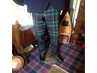 Gents Tartan trousers & kilt jacket with 2 ties