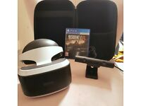 PSVR Headset + Camera V2 + Resident Evil 7 + Case Bundle