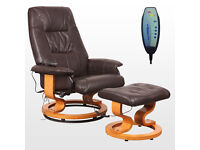 Brown-Massage-Recliner-Chair-Real-Leather-Swivel-Armchair-with-Foot-Stool