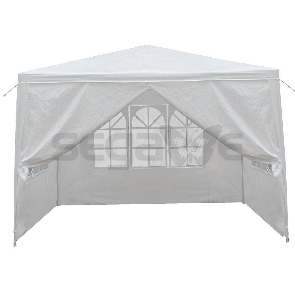 10'x10′ 4 Walls Outdoor Canopy Party Tent Wedding Heavy Duty Gazebo Garden BBQ Awnings & Canopies