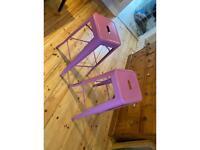 Bar stools (violet)