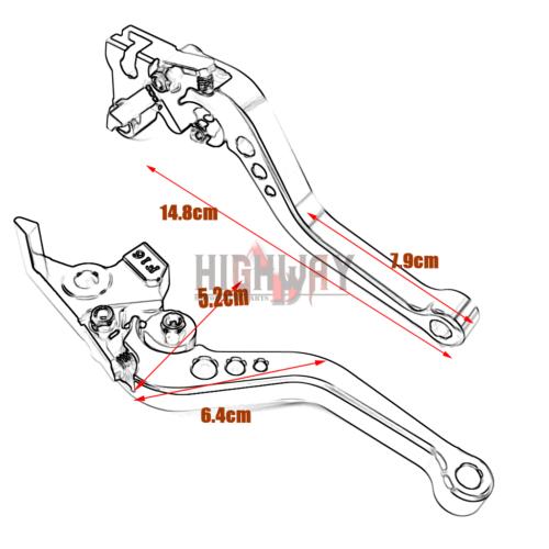 CNC Short Adjustable Brake Clutch Levers For Ducati M1100