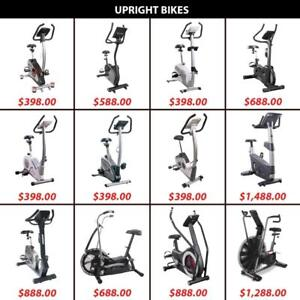 Upright Bike Bikes Bicycles Bicycle Cardio Magnetic Air Pedal Pedals DualIronman Fitness 6100 Upright