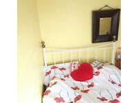 double bed with a mattress