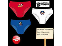 3PK Mickey Mouse Briefs