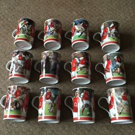 SET OF 12 ARSENAL MUGS